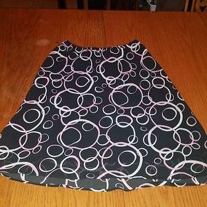 ✨B3G1 George 10 Black Pink & White Printed Skirt